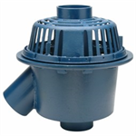 "Z103-45 15"" Diameter Deep Sump 45 deg Dual Outlet Roof Drain, with Low Silhouette Dome"