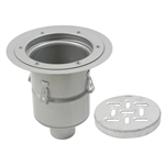 Floor Drain with 12in. Round Top, with Surface Membrane Clamp, Deep Body - BFD-530