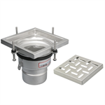 On-Grade Adjustable Floor Drain with 8in. x 8in. Square Top, Small Sump - BFD-220