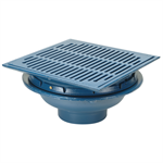 "Z150 14"" Square Top Prom-Deck Drain with Heel-Proof Grate and Rotatable Frame"