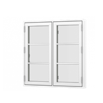 Formaplus Premium window double casement side opening with glazing bars
