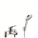 Novus 2-hole rim mounted bath mixer with diverter valve and Croma Select S hand shower 71044000
