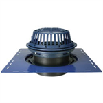 "Z100-DR 15"" Diameter Main Roof Drain with Top-Set® Drain, Riser and Low Silhouette Dome"