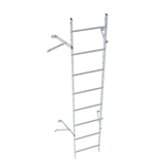 Wall ladder system with 350 offset