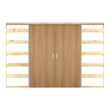 Interior Door Stable Nature Sliding In Wall Double