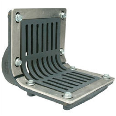 Z187 Fg Scupper Drain With Flush Grate Threaded Outlet