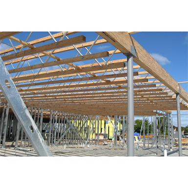 Tapered profile open web trusses red l red w red s for Open web trusses