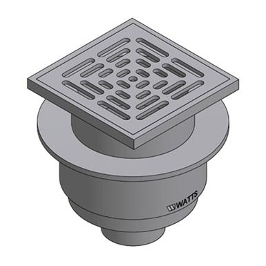 Floor Drain With Square Stainless Steel Strainer Fd 1200