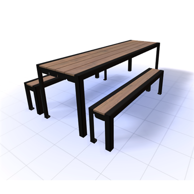 Excellent Wynne Picnic Table 8Ft Sitescapes Inc Free Bim Object Squirreltailoven Fun Painted Chair Ideas Images Squirreltailovenorg