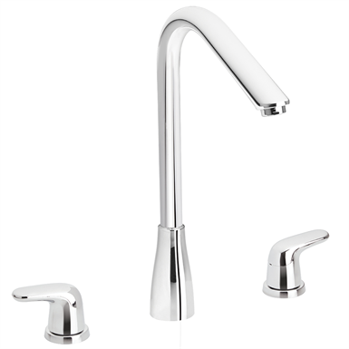 ALUVIA KITCHEN FAUCET SWIVEL SPOUT 2 LEVERS (corona) | Free BIM