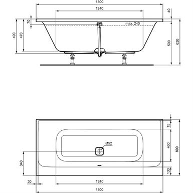 Tonic Ii Bathroom Duo 180x80 Ideal Standard Free Bim