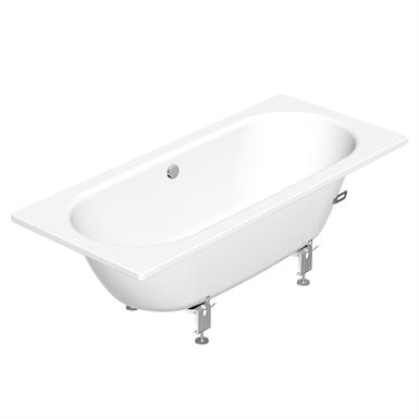 Built in bathtub duo 1600x700 1220 gustavsberg for Built in tub dimensions