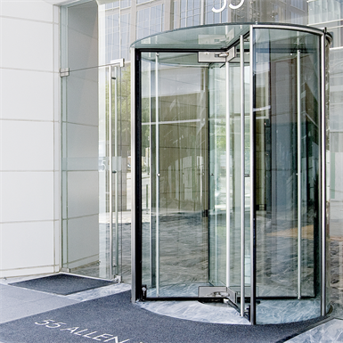 Revolving Door All Glass Crane 4000 Series Showcase Dormakaba