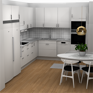 L Shaped Kitchen Marbodal Free Bim Object For Archicad