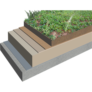Warm Extensive Green Roofing System With Sarnafil 174 Tg 66