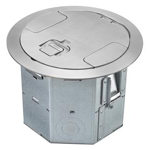 4 Gang Round Raised Access Floor Box Hubbell Wiring