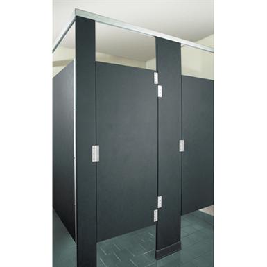 Solid Plastic Toilet Partitions Headrail Braced. SOLID PLASTIC TOILET PARTITIONS HEADRAIL BRACED  Hadrian