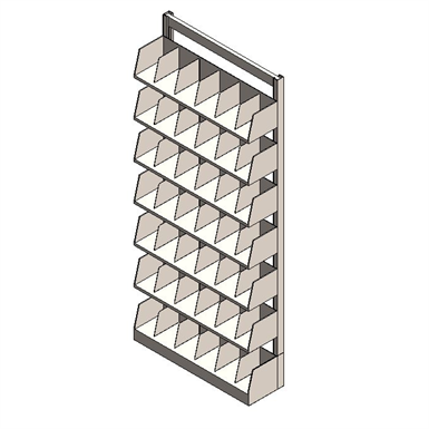 Static Cantilever Shelving Single Face Divided
