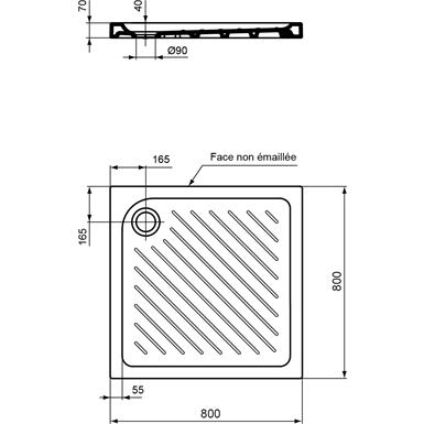 ULYSSE+ REC A POSER 80X80CM BLC (Porcher) | Free BIM object for 3DS