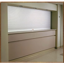 Rolling Counter Doors Secure Openings Above Counters And