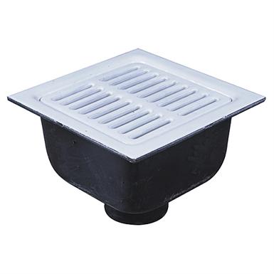 12 In Square X 6 In Deep Sanitary Floor Sink Fs 730