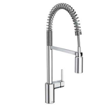 5923 ALIGN CHROME ONE-HANDLE PRE-RINSE SPRING PULLDOWN KITCHEN ...