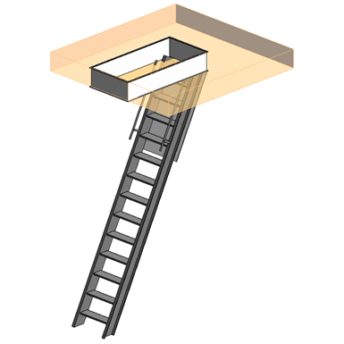 SUPER SIMPLEX DISAPPEARING STAIRWAY FOR CEILING HEIGHT OF 9\' 10 ...