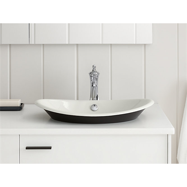 K 5403 P5 Iron Plains Wading Pool Oval Bathroom Sink With