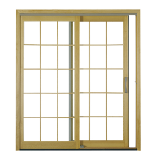 Proline Sliding Door Clad Exterior Double Fixed Vent Units