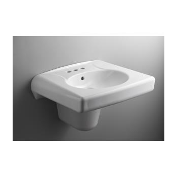 K 1999 8n Brenham Wall Mount Lavatory And Shroud With 8