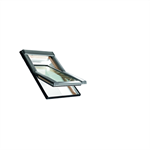 Roto centre-pivot roof window Designo R4 timber