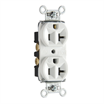 Hard Use Spec Grade Receptacle, Back & Side Wire, 15-20A, 125V
