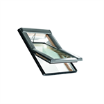 Roto centre-pivot roof window Designo R6 timber Tronic