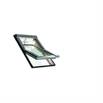Roto centre-pivot roof window Designo R4 timber Tronic