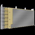 doppelte aussenfassade stahl oder aluminiumlamellen verlegung h vollständige platten dämmung abstandhalter