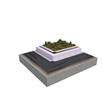 Base KL 2-layer inverted roof system for extensive green roof on concrete insulated with XPS