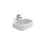 BE YOU 400 wall-mounted corner washbasin (w/ central tap hole)