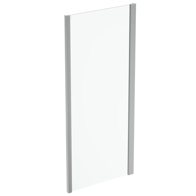 connect 2 side panel 90 clear glass bright silver finish
