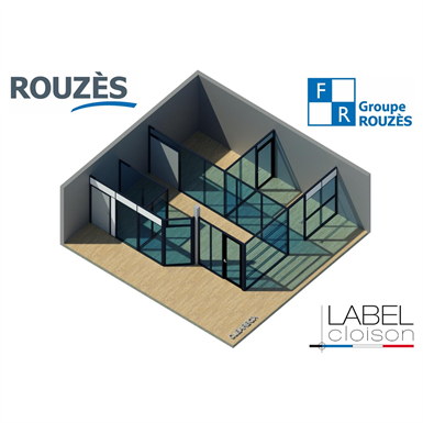 rouzes removable partition glass clearbox - range venturi