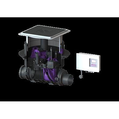 kessel-backwater pumping station 24125s pumpfix f komfort ø 125, black cover