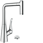 M7120-H320 2-hole single lever kitchen mixer with pull-out spray 73806000