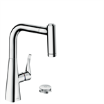 M7120-H220 2-hole single lever kitchen mixer with pull-out spray 73805000