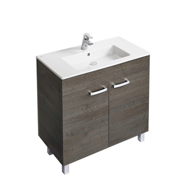tempo 800mm vanity unit with 2 doors and legs