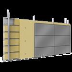 doppelte aussenfassade kassetten stahl oder aluminium vollständige platten abstandhalter mit dämmung