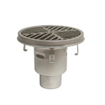 BFD-570 - HygienicPro® Processing Drain w/12in. Round Top, Bottom Outlet