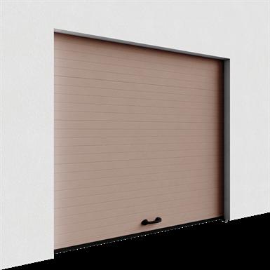 porte de garage veinée bois rainurée levée normale