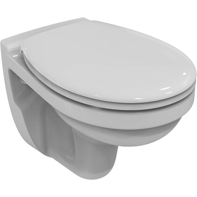 simplicity wallhung bowl ho white wd rimless