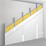 v-cw100/125; npd; npd; austria; lining with single metal stud frame, double-layer cladding