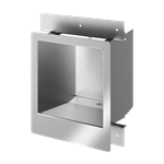 160330  commissariat stainless steel washbasin for recessed installation