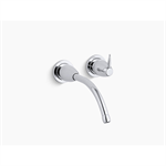 """k-t196 falling water® wall-mount bathroom sink faucet trim with 8-1/4"""" spout, requires valve"""
